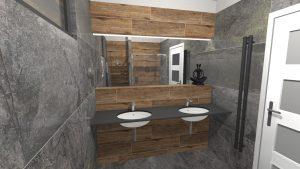 Moderní přírodní koupelna – Imitace kamene_1