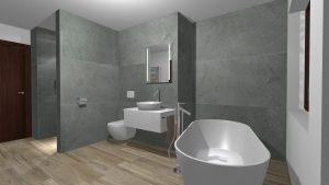 Moderní přírodní koupelna – Imitace kamene_4