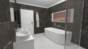 Moderní přírodní koupelna – Imitace kamene_13