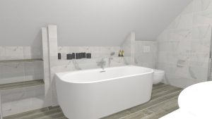 Moderní světlá koupelna-1