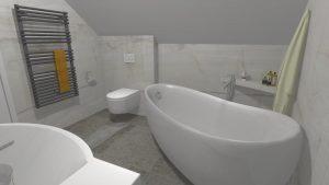 Moderní přírodní koupelna – Imitace kamene_3
