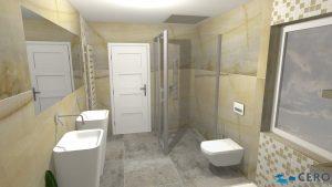 Moderní přírodní koupelna – Imitace kamene_15