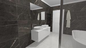 Moderní přírodní koupelna – Imitace kamene_14