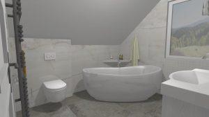 Moderní přírodní koupelna – Imitace kamene_2