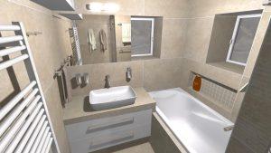 Moderní přírodní koupelna – Imitace kamene_6