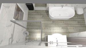 Moderní světlá koupelna_2